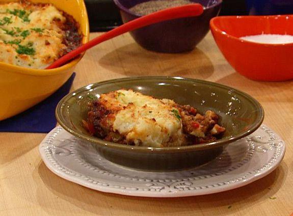Italian Beef and Pork Shepherd's Pie with Garlic Mashed Potato Topper