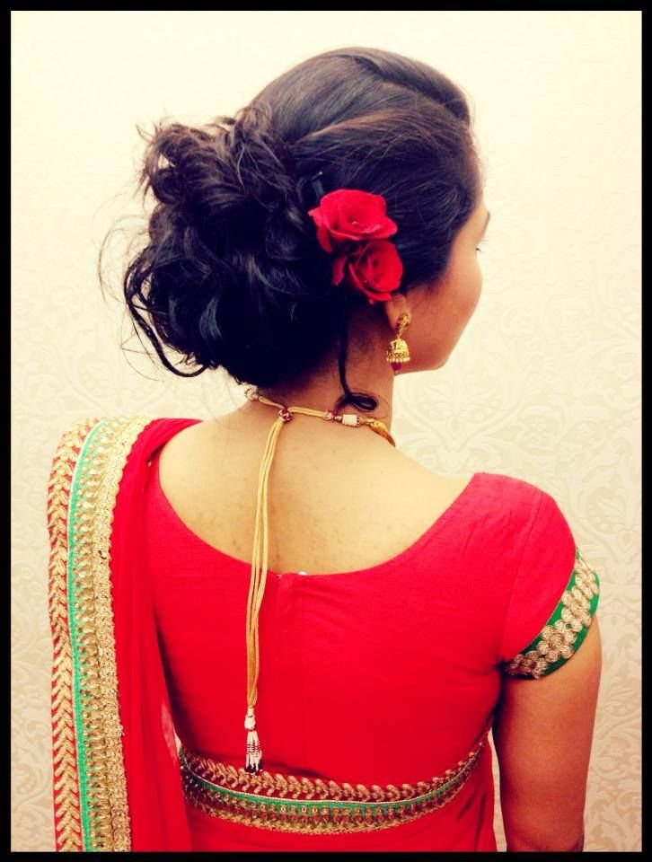 Indian Brides Reception Hairstyle Hairstyle By Swank Studio