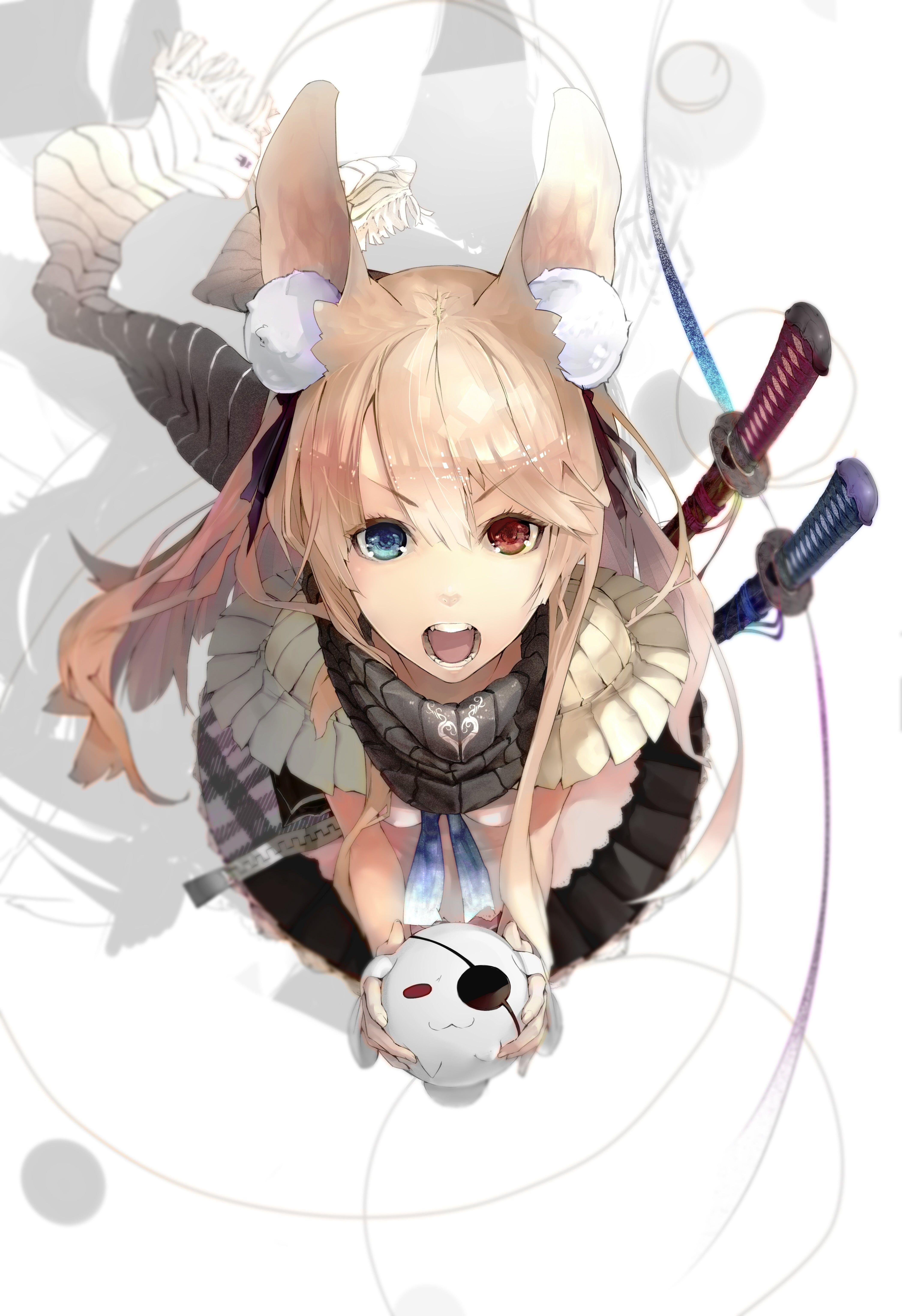 heterochromiceyed girl anime character original