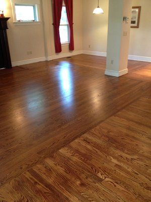 Hardwood Floors Running In Opposite Directions For The Home
