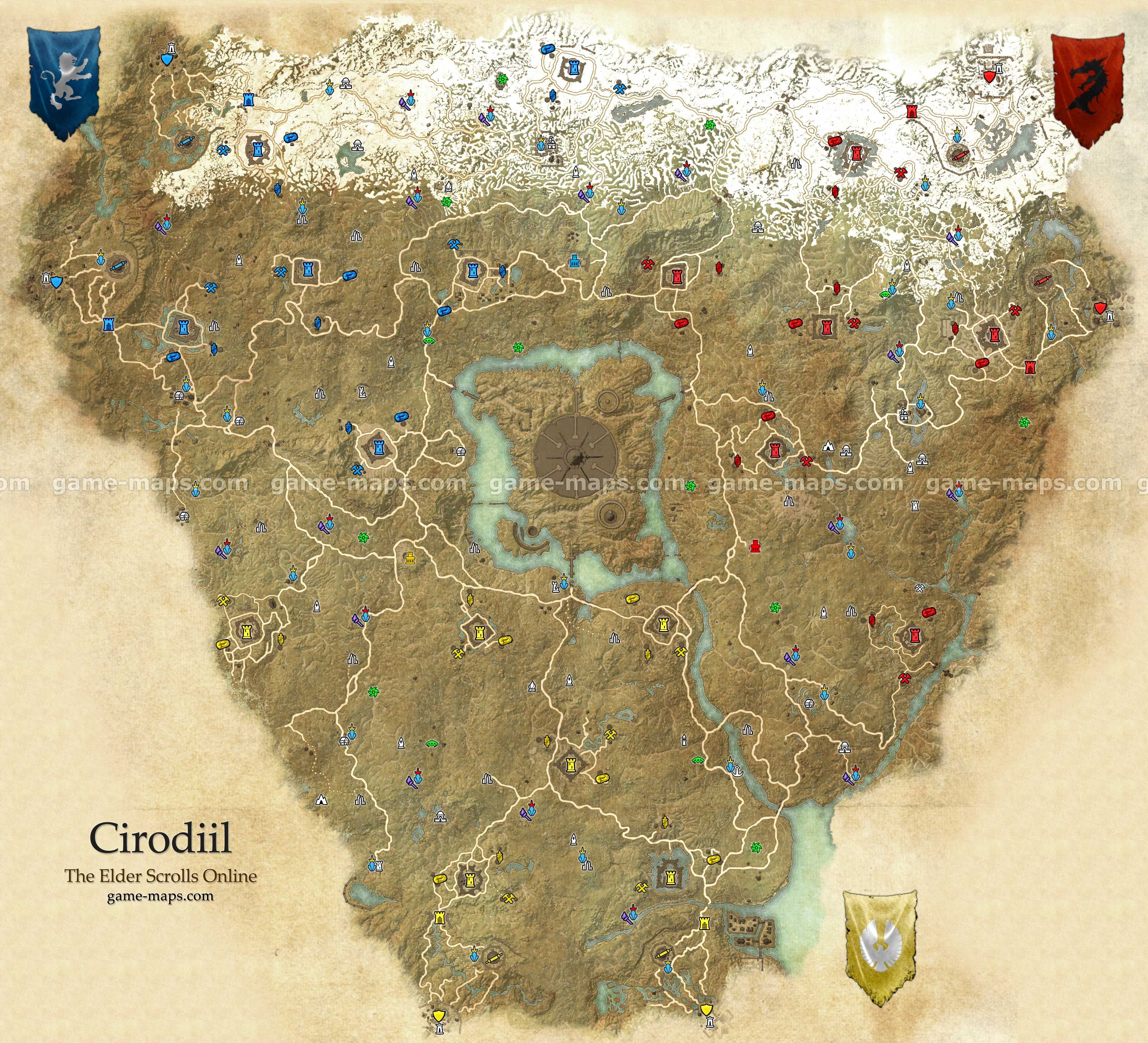Cyrodiil zone map. Cyrodiil, Imperial Province, the capital ...