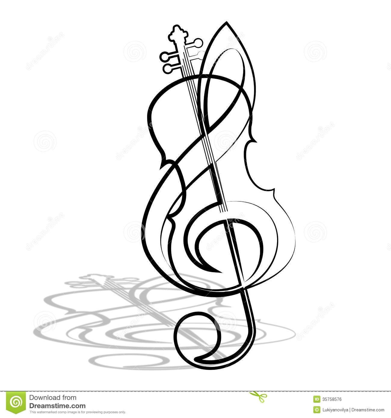 Violin And Treble Clef Download From Over 52 Million High Quality