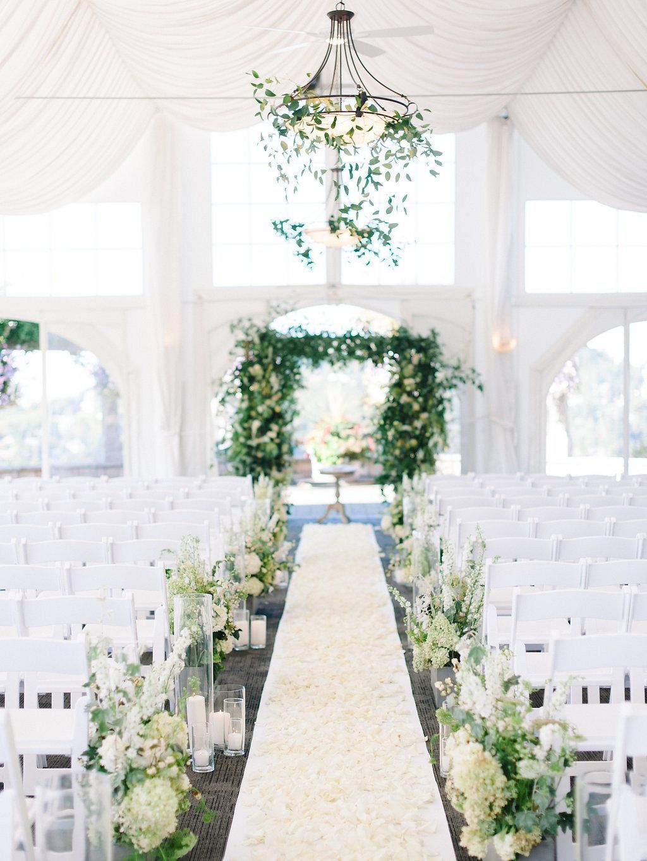 Melanie And Tyson S Supremely Elegant Blue And Blush Wedding Blue Rose Picture Wedding Chapel Decorations Wedding Aisle Decorations