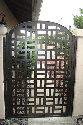Contemporary metal gate sale designer wrought iron steel garden