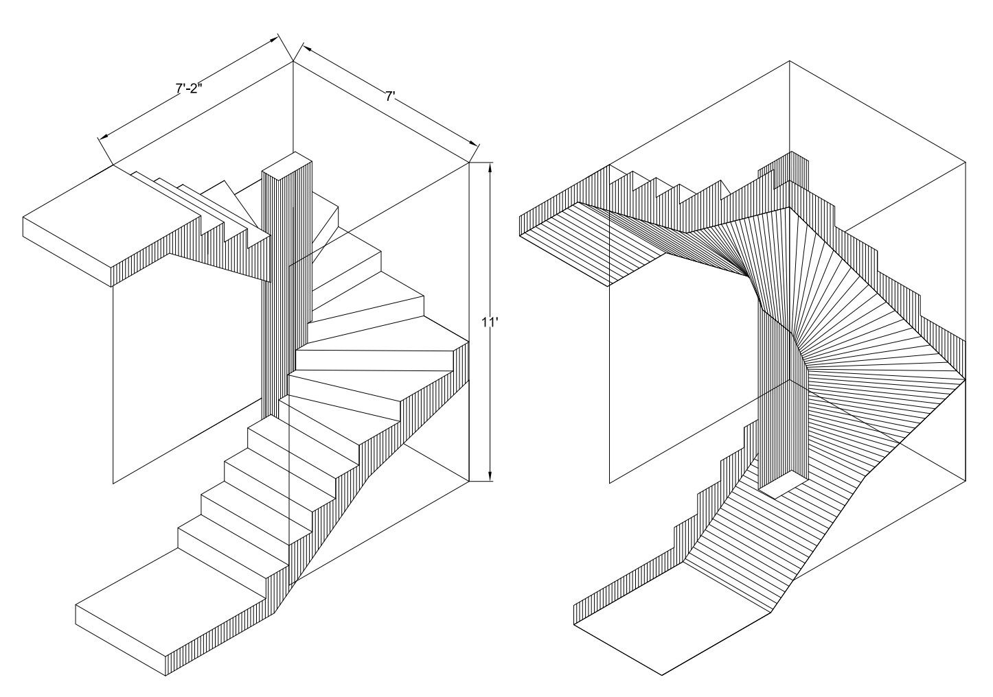 Best Small Concrete Winder Stairs For 11Ft Floor Only 7 X 7 400 x 300
