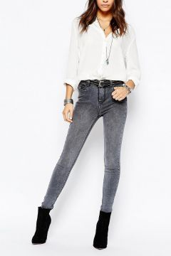New Look Skinny 5 Pocket Jean - Grey #modasto #giyim #moda https://modasto.com/new-look/kadin/br28991ct2