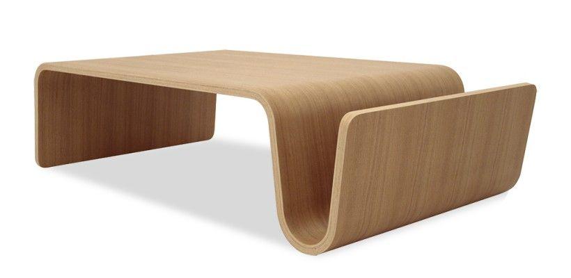 Table Basse Design en Bois Gaïa - Chêne / Noyer - 130 cm Bass