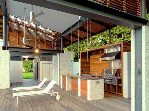 Modern Ceiling Fan Installs That We Love Modern Outdoor Kitchen Indoor Outdoor Kitchen Outdoor Kitchen Design