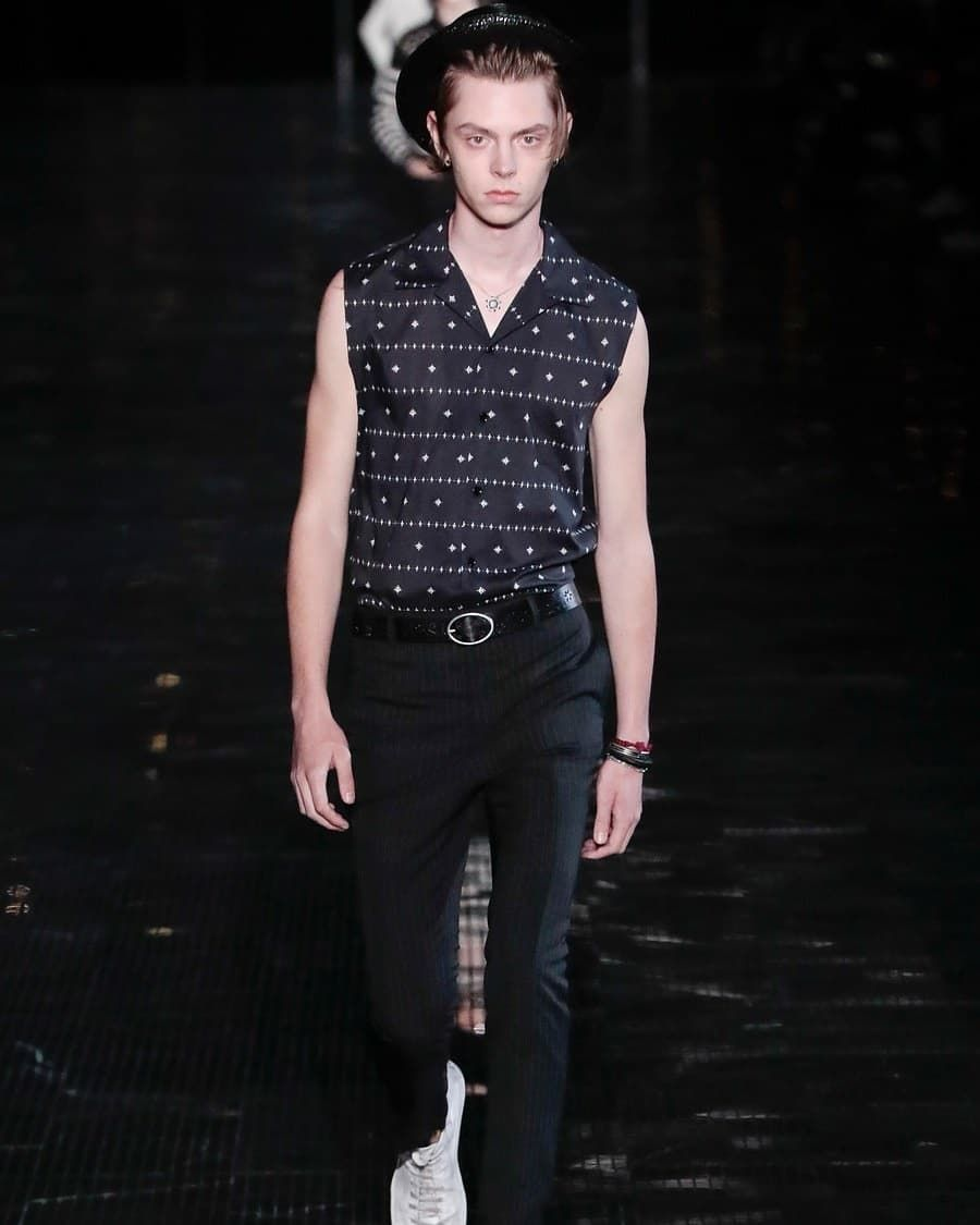 fb9cccedf8 walking for #ysl Spring 2019 #PaulManniez #fashion #model ...