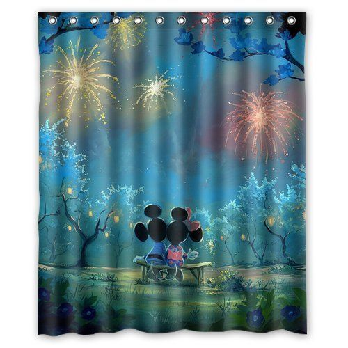 Disney Find Truly Magical Mickey Minnie Shower Curtain