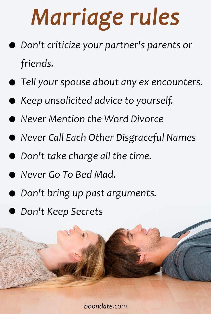 Don't criticize your partner's parents or friends. Tell