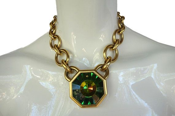 93a3b261eb5 Vintage YSL Yves Saint Laurent Limited Edition Prism Necklace and matching  Earrings