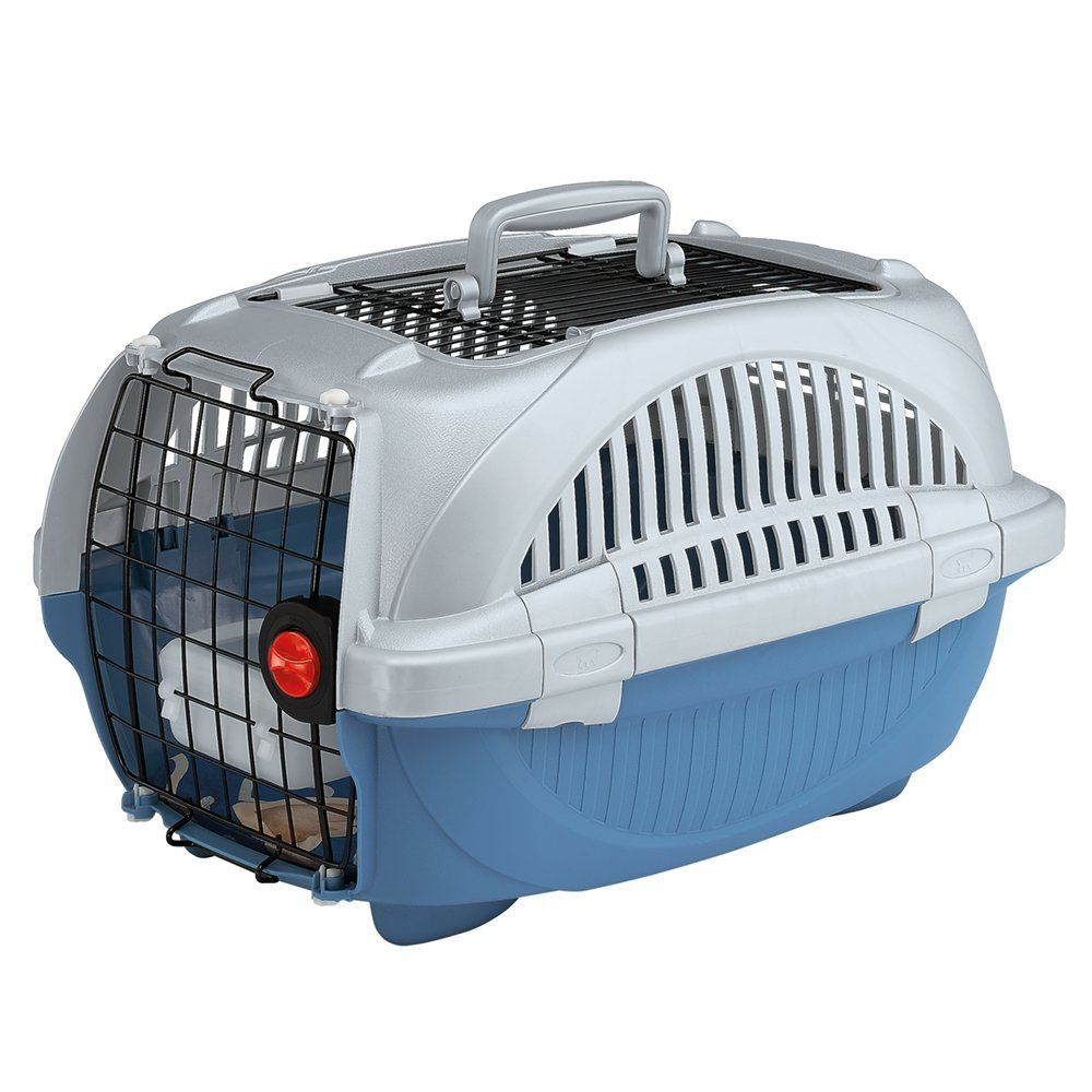 Ferplast Atlas Deluxe 10 Open Cat And Dog Carrier 34 X 50 7 X 30 Cm Blue Dog Carrier Dog Cat Cat Pet Supplies