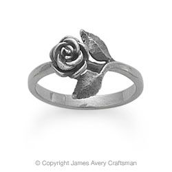 James Avery Small Rose Ring - this is a little different than most rose rings.