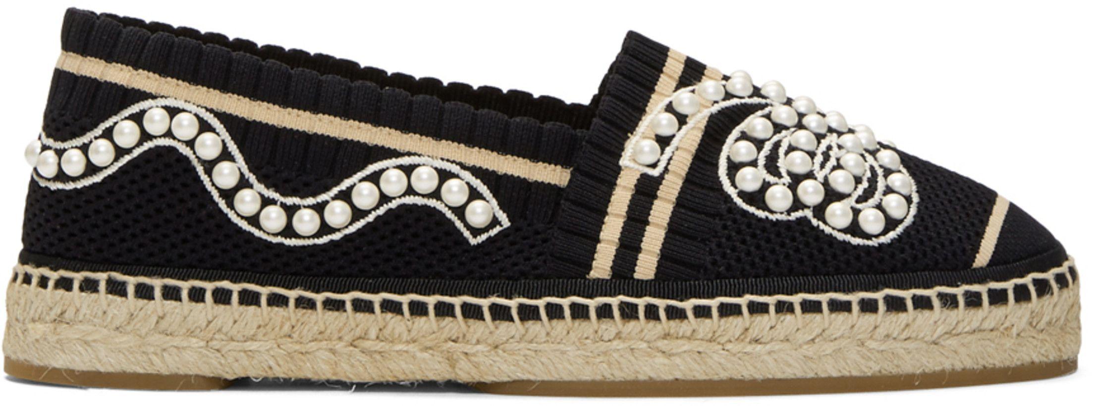 0bc4719a2 Fendi - Espadrilles en maille noires Pearl | shoes | Espadrilles ...