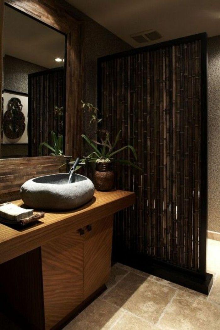 bad dekorieren bambus deko dekotippps Projekte Pinterest - badezimmer bambus