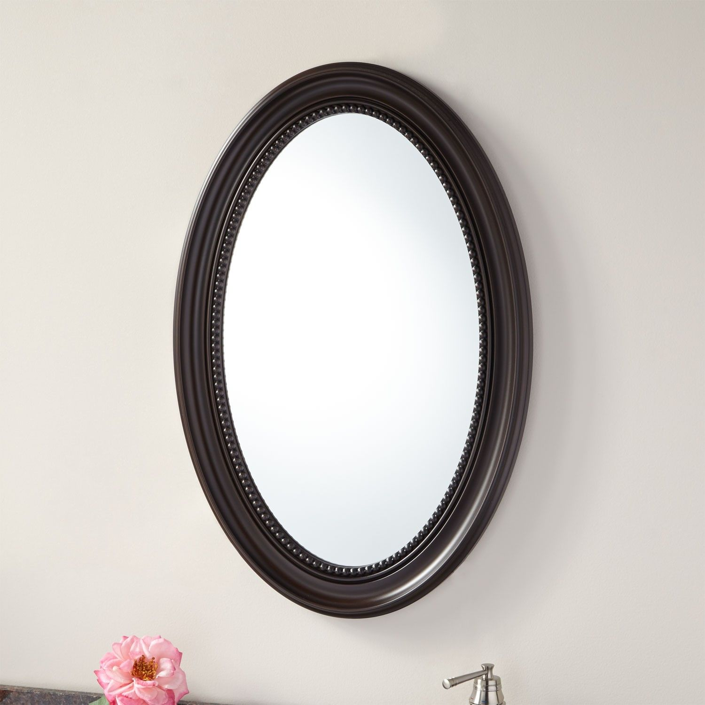 20 Dunbar Recessed Mount Oval Framed Medicine Cabinet With Mirror