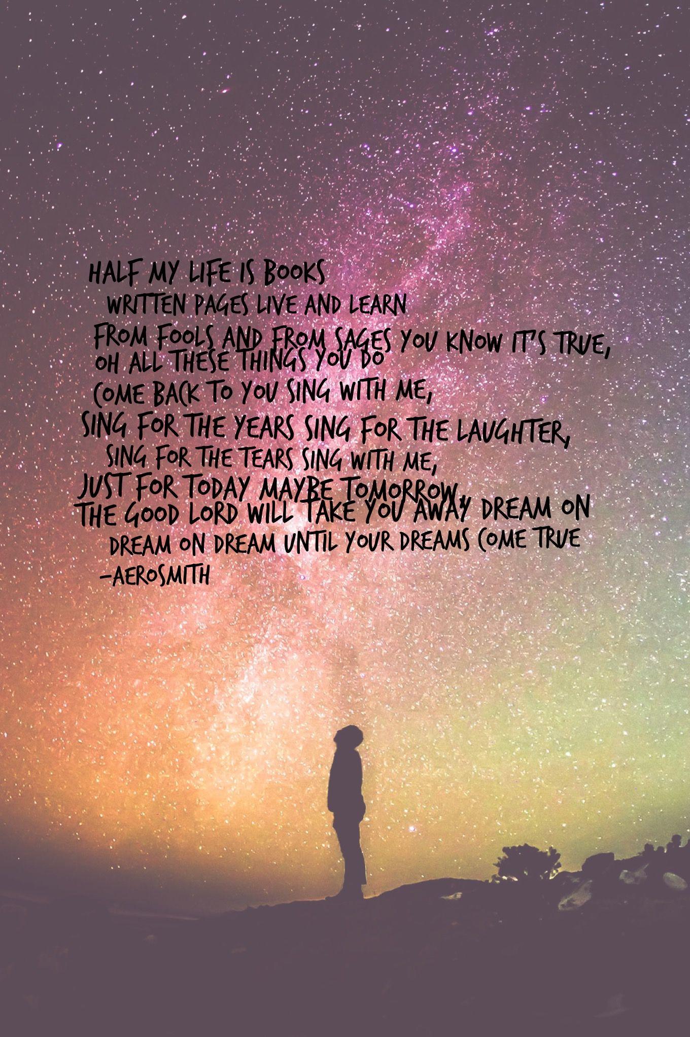 Dream OnAerosmithLyric Edit EvaLand Aerosmith lyrics