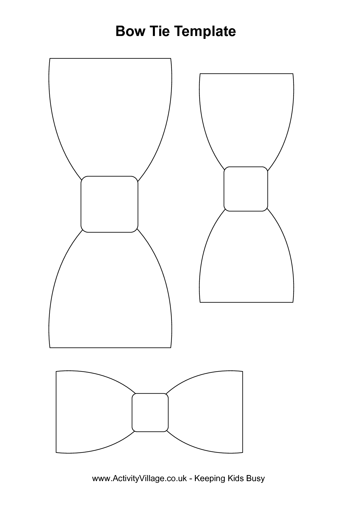 Bow Tie Cut Out Pattern | Bow tie template index of | Baby Shower