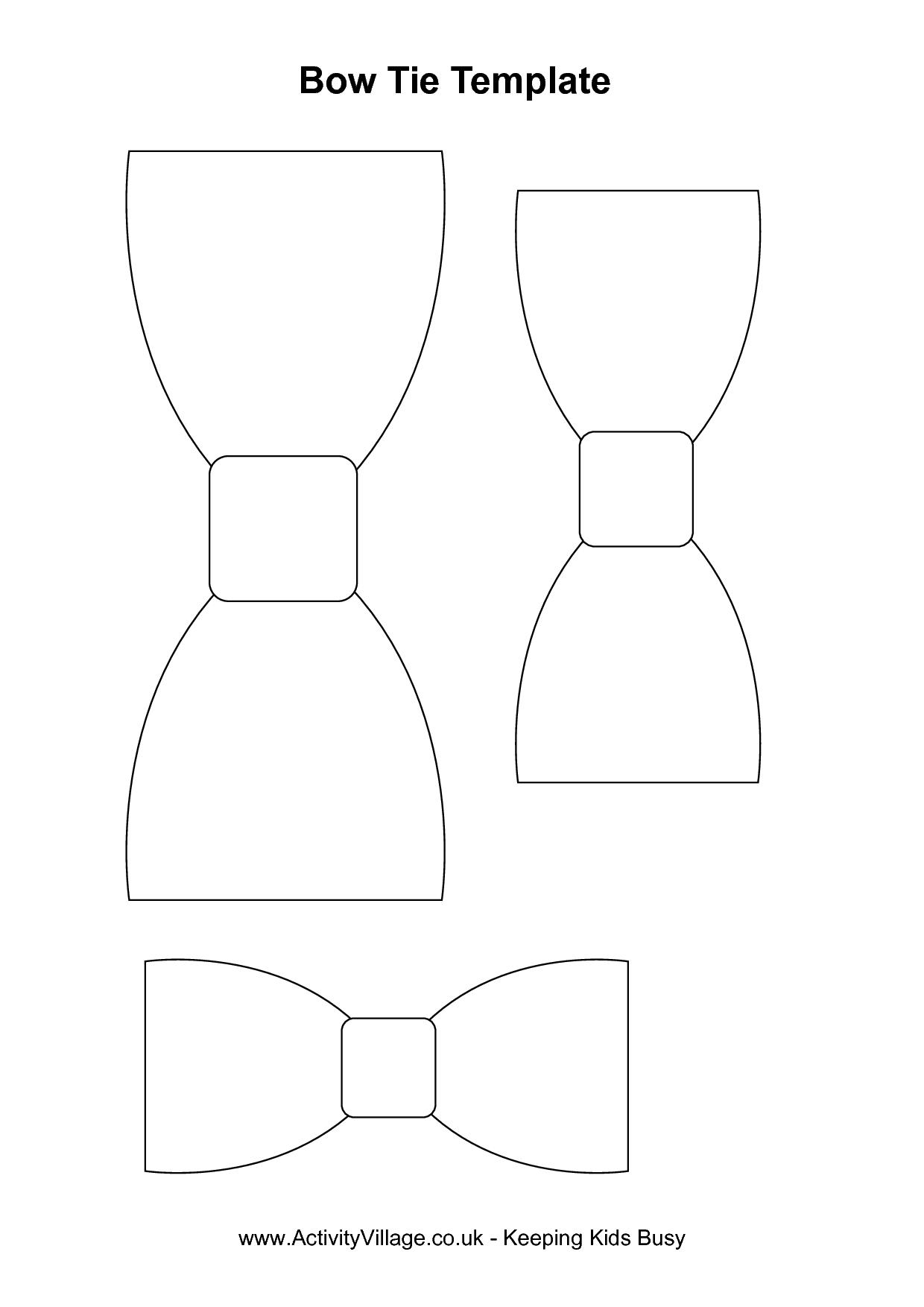 Baby Bow Ties Pattern : pattern, Pattern, Template, Shower,, Mustache, Bowtie