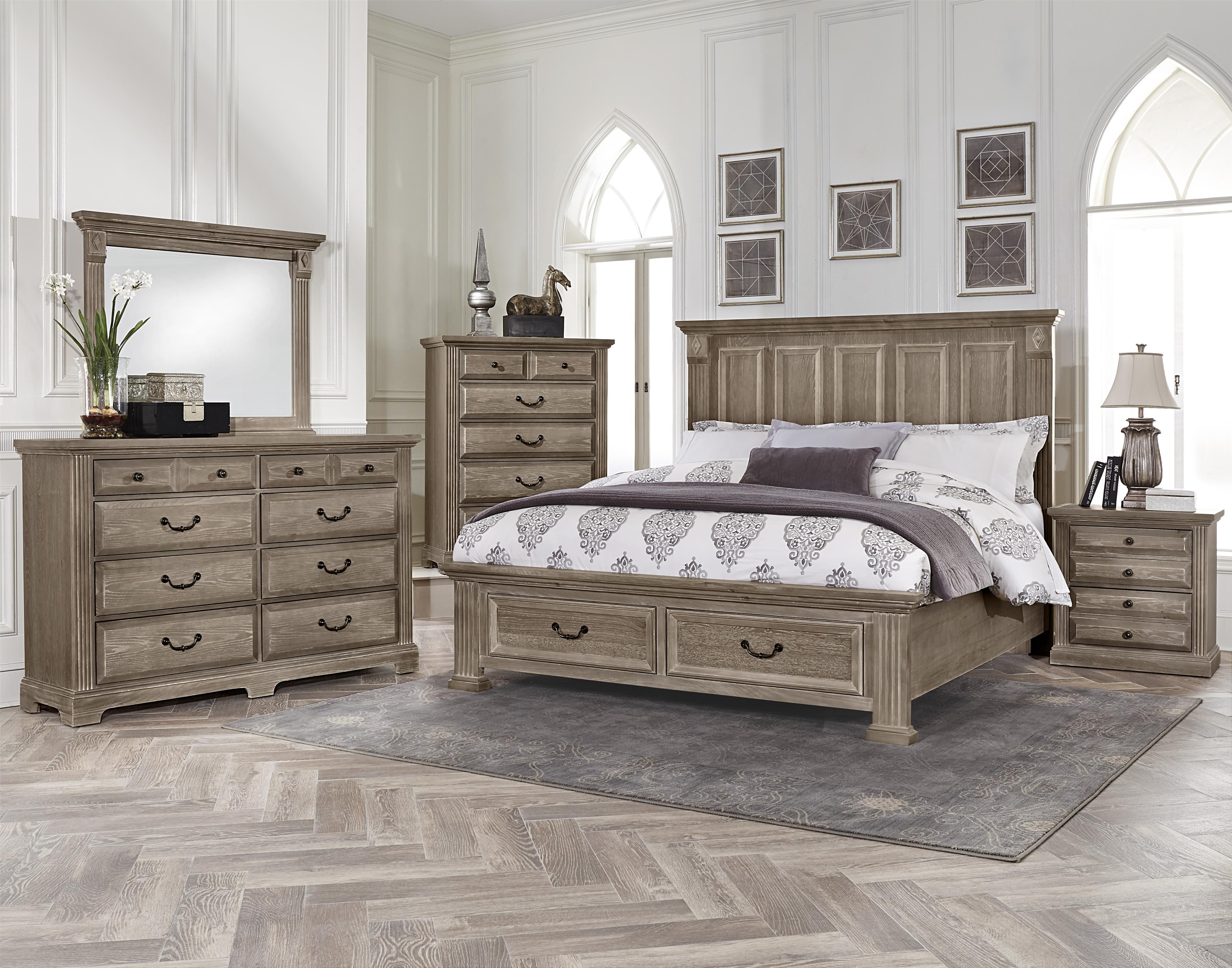 Woodlands King Bedroom Group by Vaughan Bassett | The new crib ... for Driftwood Color Furniture  174mzq