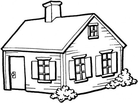 Coloring Pages Of House. Advanced Fairytale houses Coloring Pages  on Small House In The Village