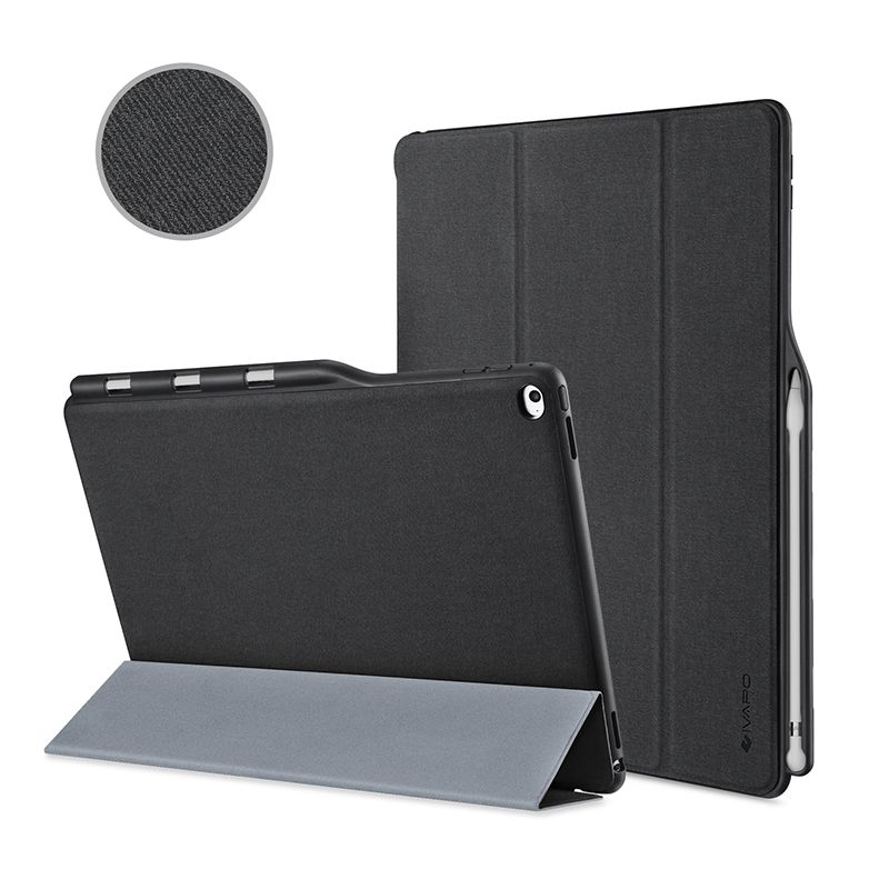 Ipad Pro 12.9 Case With Pencil Holder For Apple Ipad Pro 129 Inch Case Leather Slim Fit Flip Folio Case W