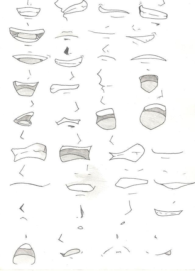 Bocas De Anime Manga Simples Ideias Anime Drawings Tutorials Manga Mouth Mouth Drawing