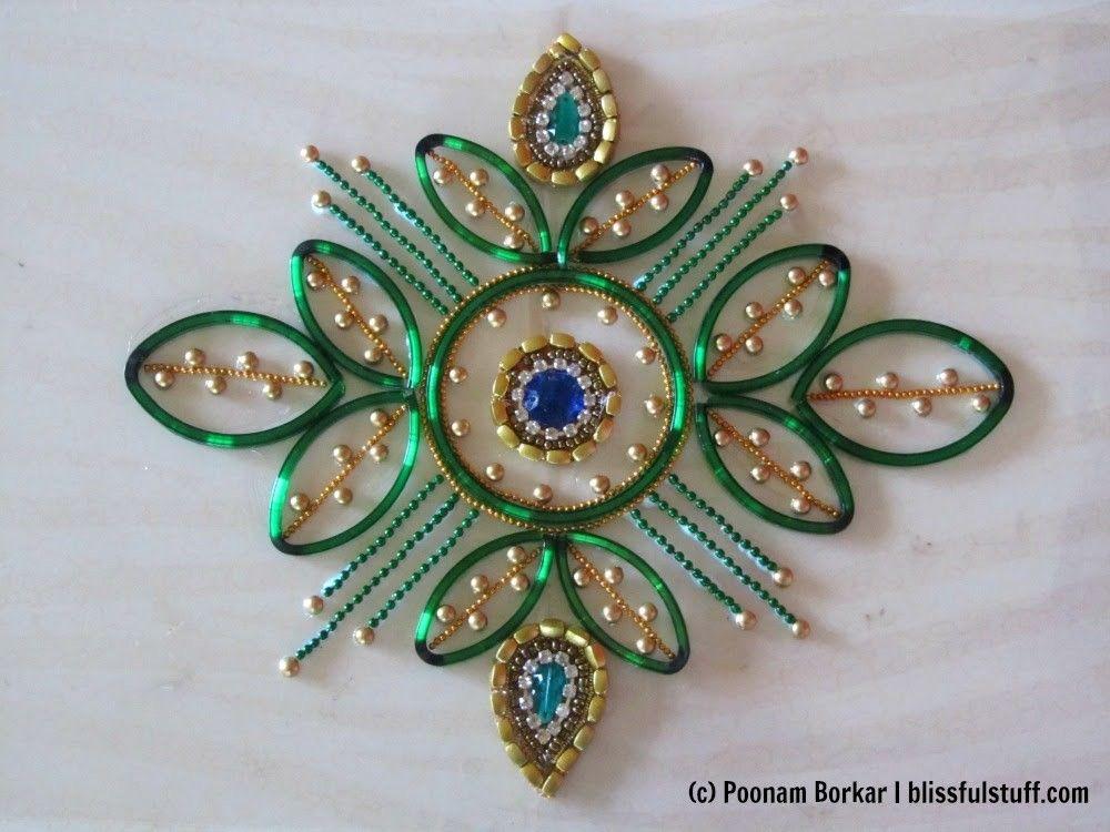 DIY - Kundan rangoli using broken bangles | art | Diwali diy