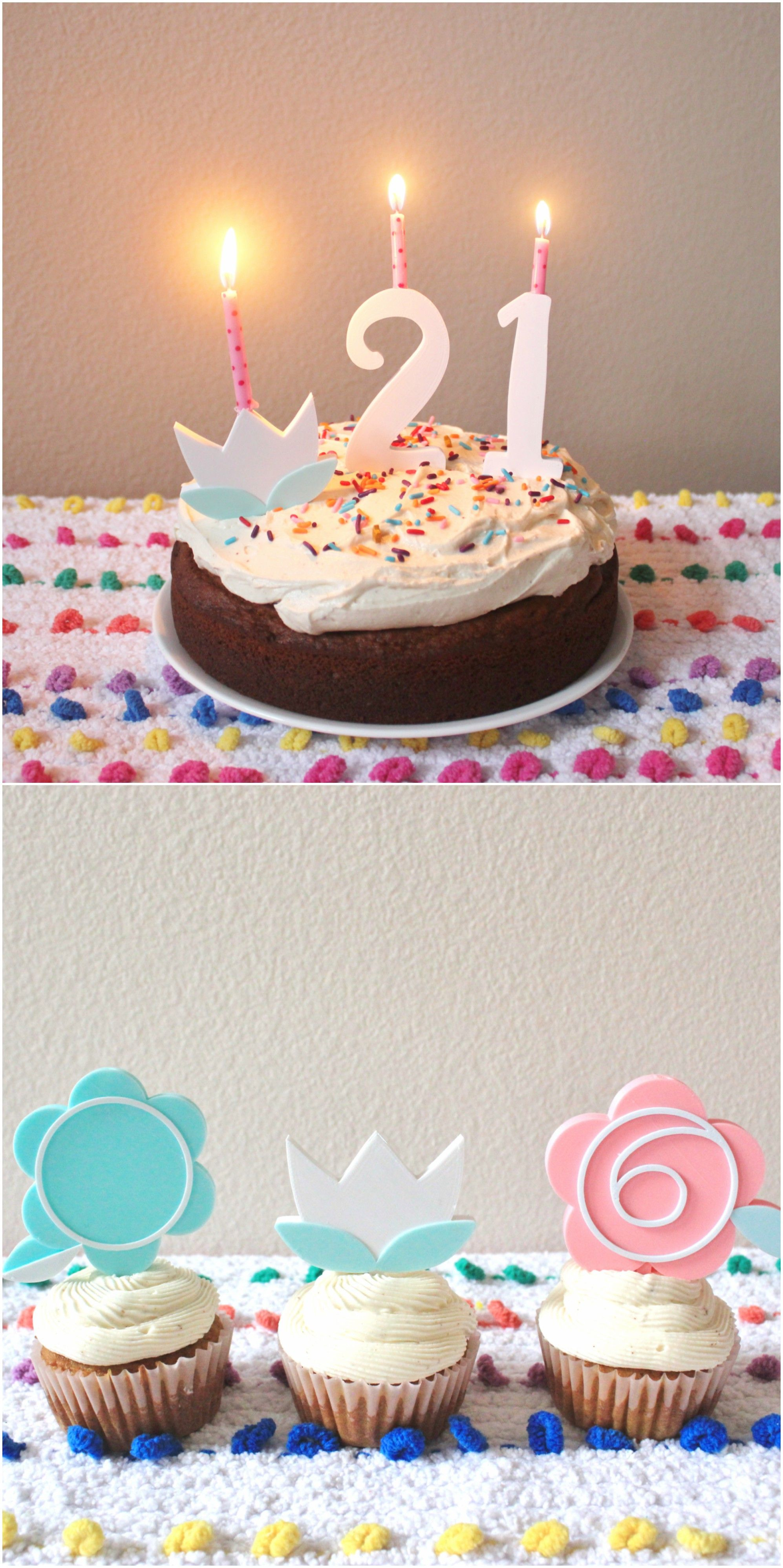 Amazing Cake Toppers Combine Flower With The Age Number 0 9 These Birthday Hold Standard Candles