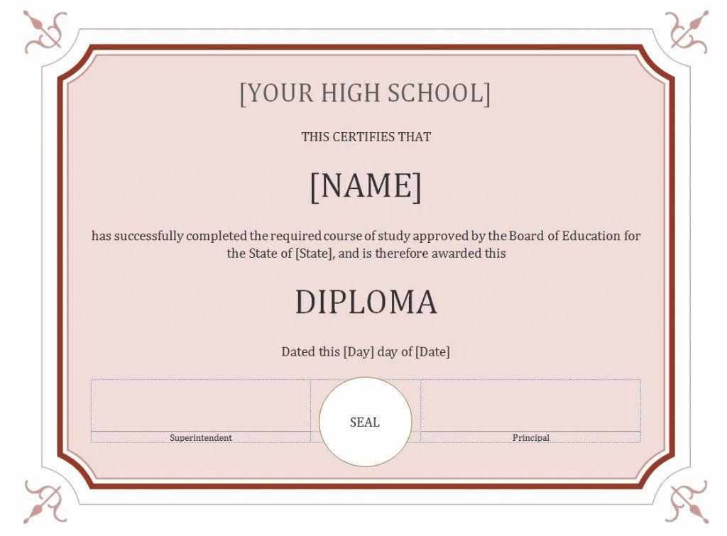 Free High School Diploma Templates Beautiful 60 Free High School Diploma Template In 2020 Free High School Diploma High School Diploma Graduation Certificate Template