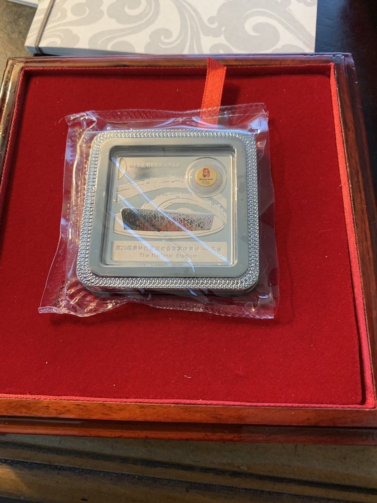China Beijing 2008 Olympics 50gr National Stadium Medal Brick Bar With COA