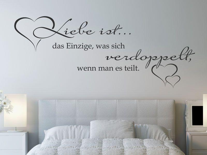 Wandtattoo Liebe ist das Einzige, was sich - wandtattoos schlafzimmer sprüche