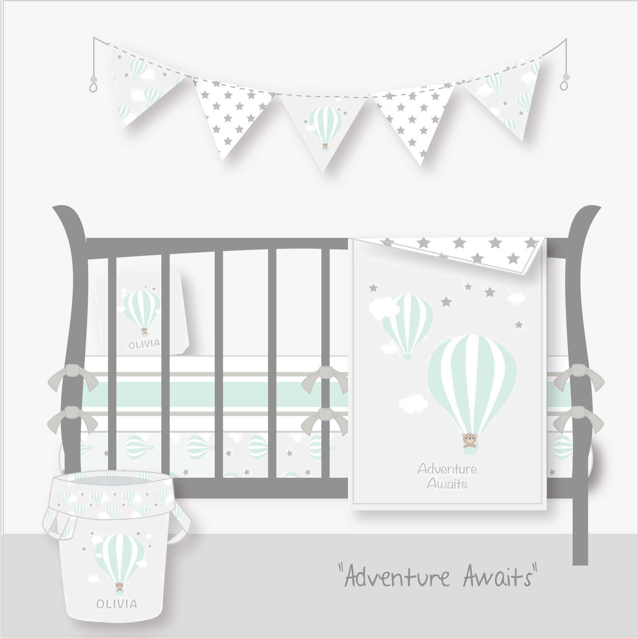 Hot Air Balloon Nursery BeddingPersonalized Nursery