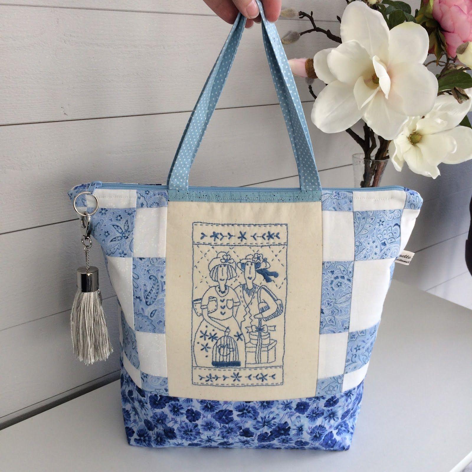 Beskrivning Väskor med blixtlås och foder | Sy väska