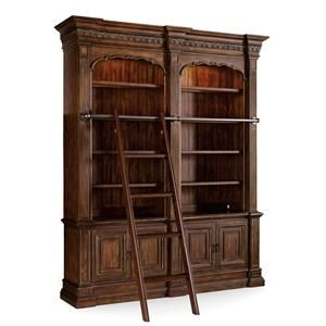 Hooker Furniture Adagio Double Bookcase With Ladder And