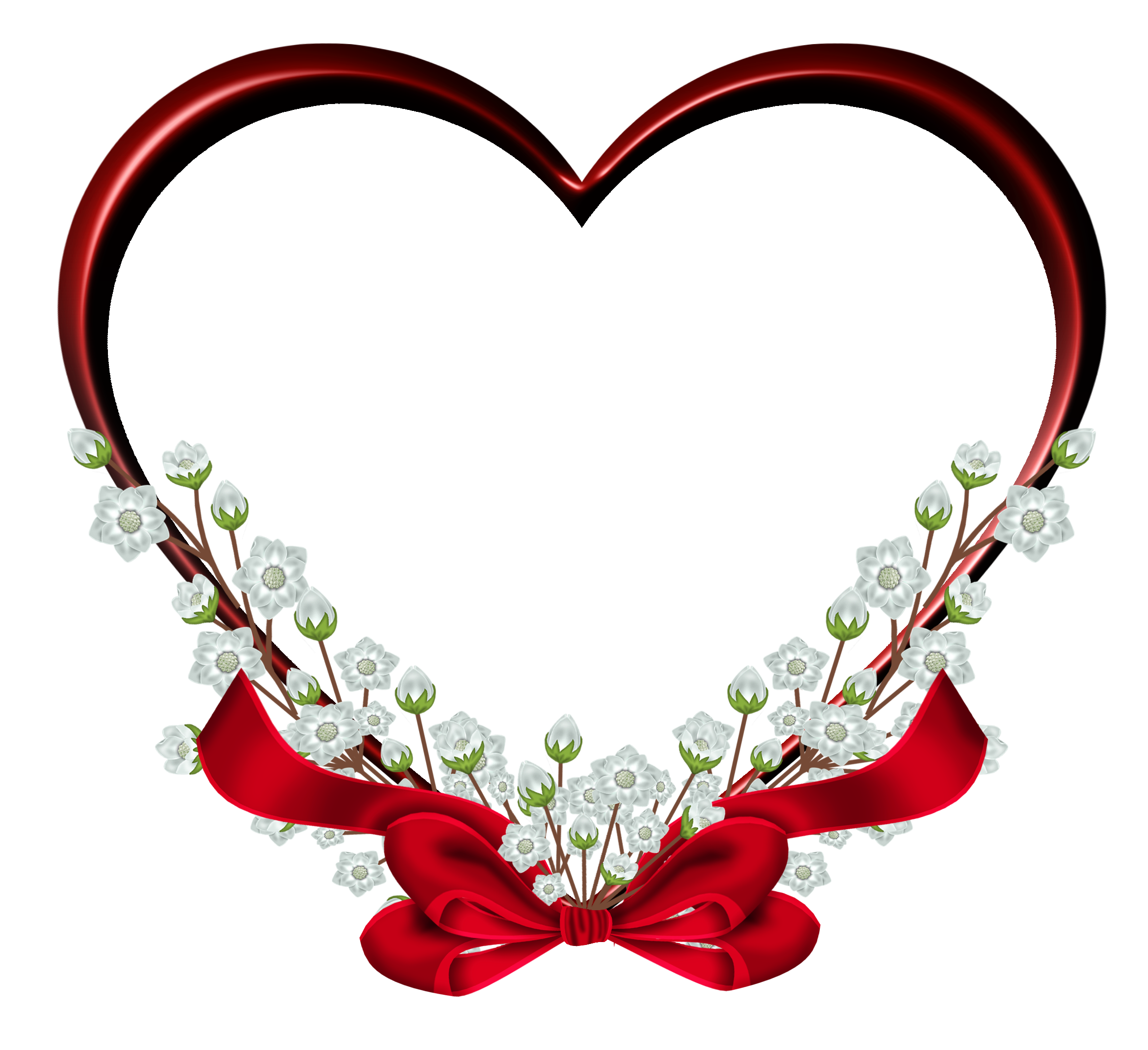 Transparent Red Heart Frame Decor PNG Clipart Gallery