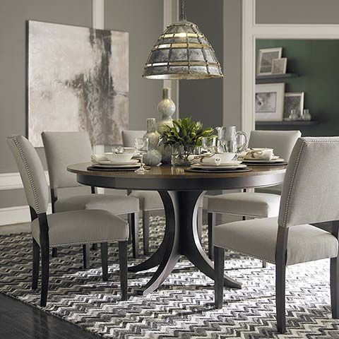 This Looks Twotone Which I Like But Looking For Rectangle For - Two tone round pedestal dining table