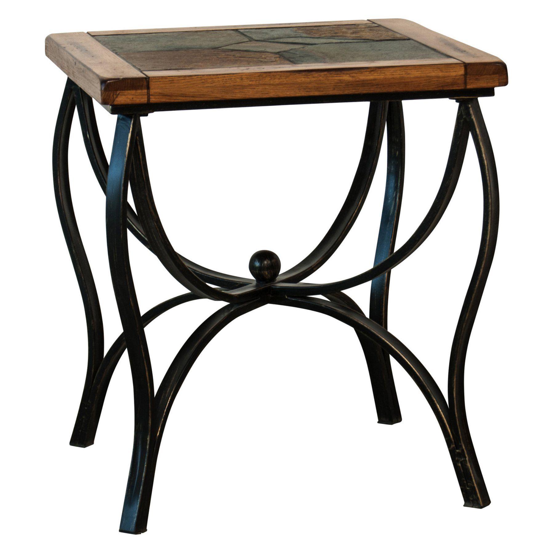 Sunny Designs Sedona Slate Metal End Table 3125ro E Metal End
