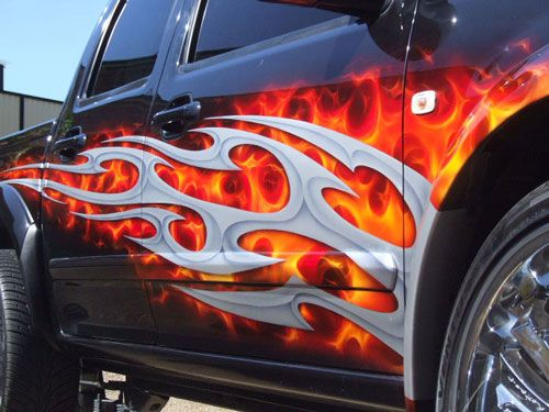Images Of Airbrushed Painted Cars People Always Ask Me How To - Custom vinyl decals for rc carsimages of cars painted with flames true fire flames on rc car