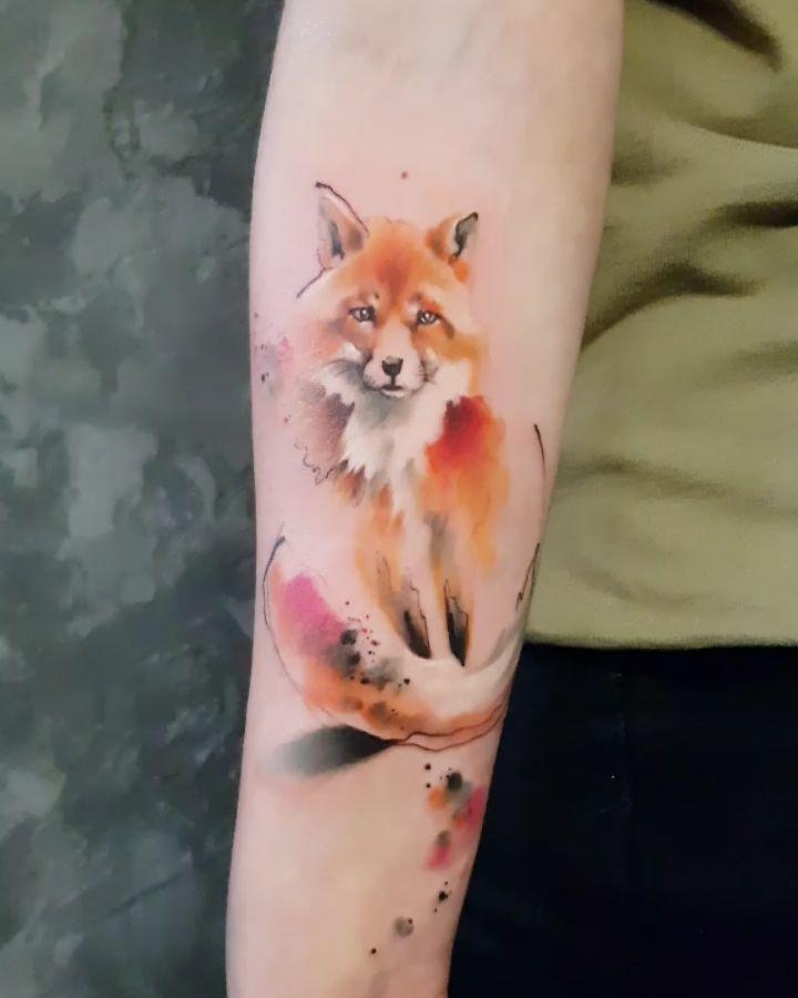 Watercolor Fox Animal Tattoos Body Art Tattoos Fox Tattoo