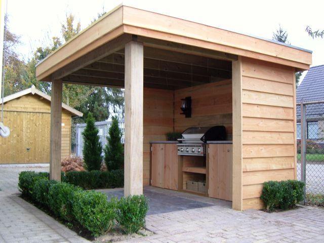 Overkapping met buitenkeuken diy pinterest tuinhuizen tuin en met for Buiten patio model