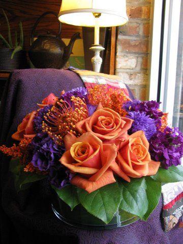 First Come Flowers Purple Flower Arrangements Flower