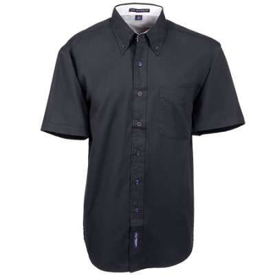 Port Authority S508 BLK Men's Black Short Sleeve Button Down Shirt ...