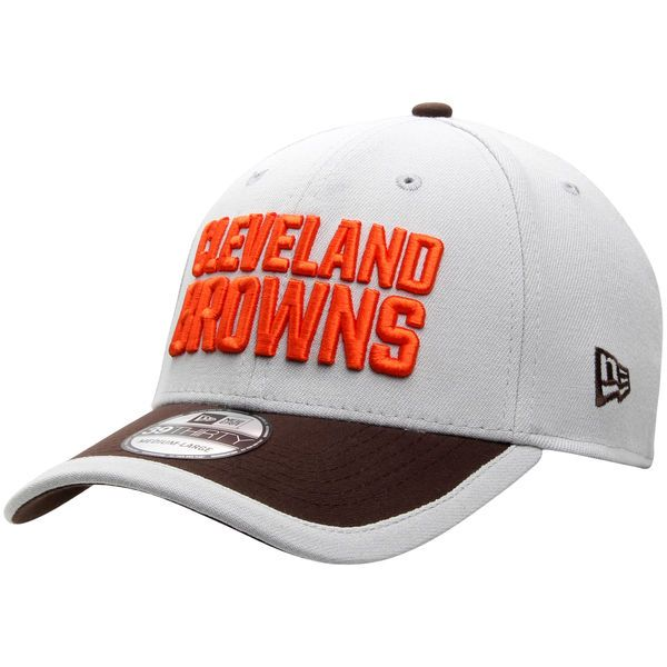 a78f82b4da7 Men s Cleveland Browns New Era Gray NFL Gray Sideline 39THIRTY Flex ...