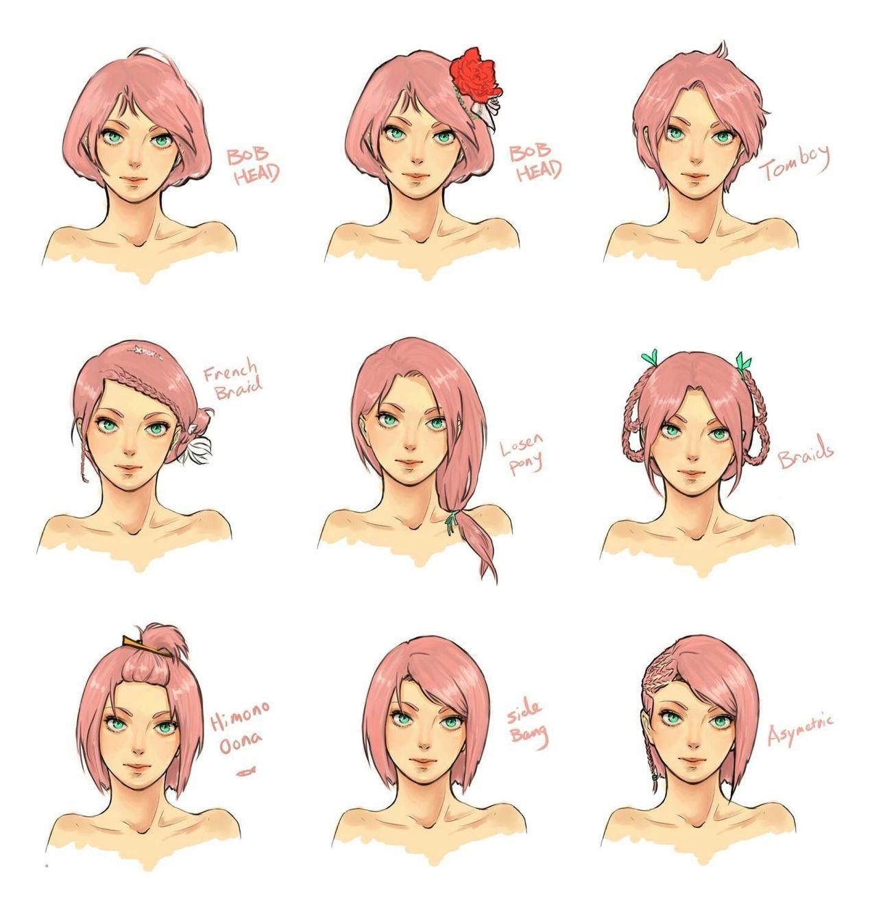 Hairstyles For Sakura Sakura Haruno Cute Drawings Sasusaku Lemon