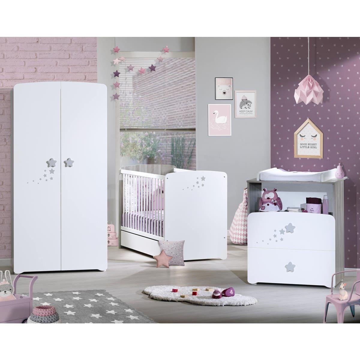 BABY PRICE Armoire chambre bébé 2 portes PILOU | Armoire chambre ...