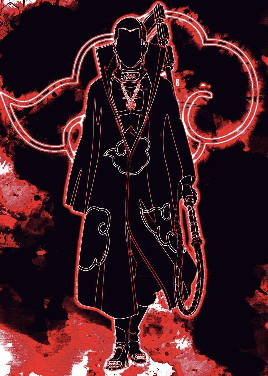 Hidan Akatsuki Anime & Manga Poster Print | metal posters - Displate |  Sakura e sasuke, De mulher pra mulher, Naruto personagens