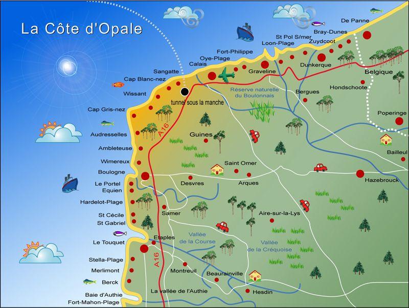carte-cote-francaise-mer-nord