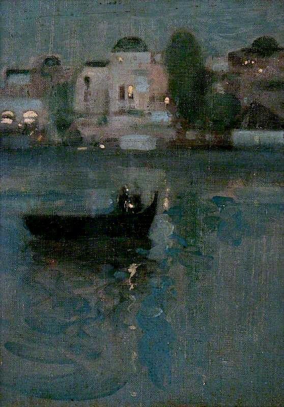 El Grao, Valencia - John Duncan Fergusson 1901  British painter 1874-1961